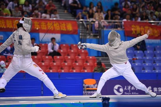 全运会击剑团体赛第三日集锦